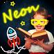 Sticky neon draw by Mempadura