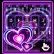 Sparkling Purple Heart Keyboard Theme by Fashion Cute Emoji