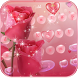 Waterdrop Rose Theme Keyboard by LoveFirst Themes Center