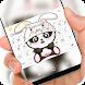 Cute panda rabbit Keyboard by Jubee Theme Studio
