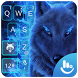 Neon Blue Wolf Keyboard Theme by Hot Keyboard Themes For Android