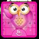 3D Owl Keyboard Theme by Fashion Cute Emoji