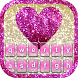 Glitter Heart Keyboard Theme by Thalia Ultimate Photo Editing
