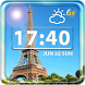 Paris Weather Clock Widget by Cicmilic Soft