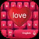 Red Love Keyboard Theme by Echo Keyboard Theme