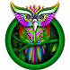 Green Owl Forest Theme by Cool Theme Love