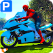 Superheroes Bike Parking: Super Stunt Racing Games by Let's Game