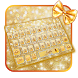 Golden Giltter Bow Keyboard Theme by cool wallpaper