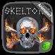 Fire Skeleton GO Keyboard Animated Theme by GOMO Dev Team