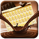 Golden Chocolate Theme&Emoji Keyboard by happy emoji keyboard theme studio