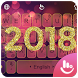 Neon Happy New Year 2018 Keyboard Theme by Hot Keyboard Themes For Android