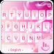 Pink Love Heart Keyboard Theme by Fashion News