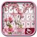Pink Orchids Garden Keyboard Theme by Hot Keyboard Themes For Android