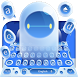white robot keyboard max hero blue bay by Keyboard Theme Factory