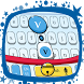 Cute Blue Cat Keyboard Theme by Pretty Keyboard Theme