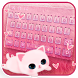 Cute Kitty Pink Feather Theme by GpDev