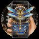 Tech dragonfly Gold Diamond keyboard by Bestheme Keyboard Designer 3D &HD
