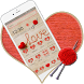 Crimson Winter Hearts Theme by stylish android themes