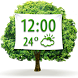 Nature Weather Clock Widget by Super Widgets