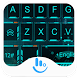 Tech Neon Blue Keyboard Theme by Sexy Free Emoji Keyboard Theme