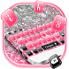 Pink Silver Glitter Keyboard Theme by cool wallpaper