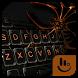 Black Widow Spider Keyboard Theme by Sexy Free Emoji Keyboard Theme