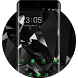 Cool Black Launcher Neon Green Upcoming Tech Theme by Mobo Theme Apps Team