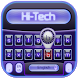 blue hi-tech keyboard by Keyboard Theme Factory