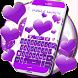 Purple Hearts Keyboard by Keyboard Backgrounds