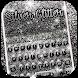 Silver Glitter Keyboard Theme