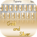 Gold and Silver Theme Keyboard by Best Keyboard Theme Design