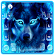 Neon Wolf Keyboard Theme by Super Cool Keyboard Theme