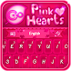 GO Keyboard Pink Hearts Theme by Inner Works Studios