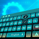 cyan green space future keyboard galaxy tech by Keyboard Theme Factory