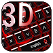 3D Red Black Keyboard Theme by Super Cool Keyboard Theme