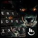 Fire Dire Wolf Keyboard Theme by Sexy Free Emoji Keyboard Theme