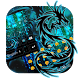 Neon Dragon krystal typewriter by Android Theme Studio