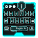 neon blue future keyboard light robot by Keyboard Theme Factory