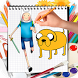 How to Draw Adventure Time For Kids Step By Step by kidsaps