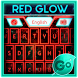 GO Keyboard Red Glow Theme by Inner Works Studios