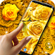 Golden Roses Live Wallpaper by 3D HD Moving Live Wallpapers Magic Touch Clocks