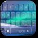 Blue Shiny Aurora Keyboard by Keyboard Theme Factory