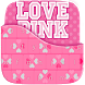 Love Pink Keyboard Theme by Golden Studio