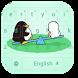 Cartoon Penguin Bear Keyboard by beautifulwallpaper