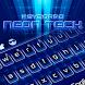Neon Tech Keyboard Theme by Keyboard Dreamer