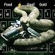 Rattlesnake and gun keyboard theme by Cool Theme Creator