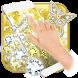 Butterflies Theme Glitter Wallpaper by Theme Wizard