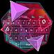 Pink Purple Polygon Keyboard by Super Cool Keyboard Theme