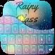 Rainy Glass Keyboard Theme by Golden Studio