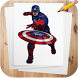 How to Draw Captain America Characters by Advanced Drawing Tutorials